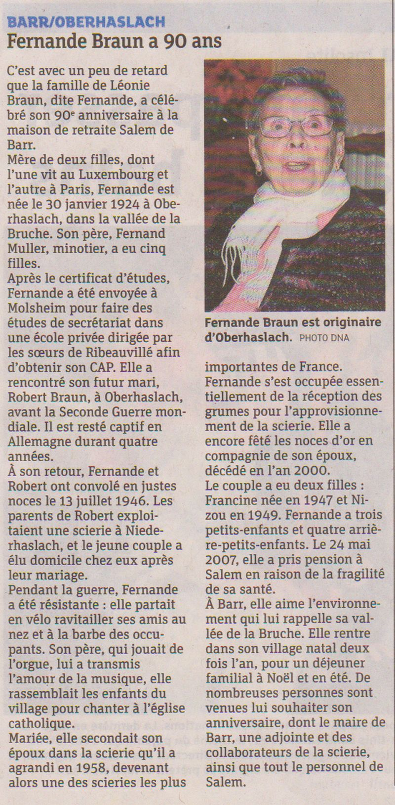 DNA du 4 mars 2014 Braun