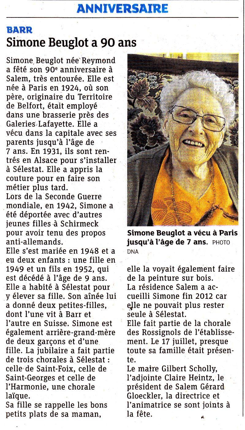 Anniversaire de Mme Beuglot
